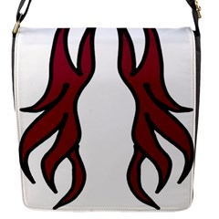 Dancing Fire 2 Flap Closure Messenger Bag (Small)