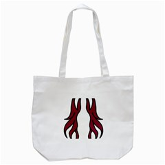 Dancing Fire 2 Tote Bag (white)