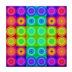 Rainbow Circles Ceramic Tile