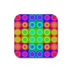Rainbow Circles Drink Coaster (square)