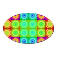 Rainbow Circles Magnet (Oval)