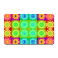 Rainbow Circles Magnet (rectangular)