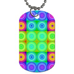 Rainbow Circles Dog Tag (One Sided)
