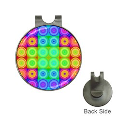 Rainbow Circles Hat Clip with Golf Ball Marker