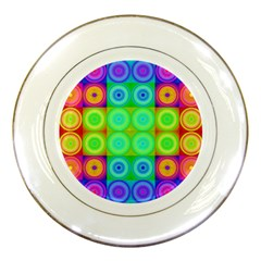 Rainbow Circles Porcelain Display Plate