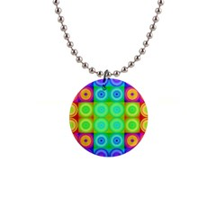 Rainbow Circles Button Necklace
