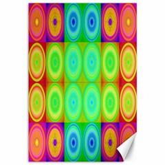 Rainbow Circles Canvas 12  X 18  (unframed)