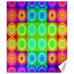 Rainbow Circles Canvas 20  X 24  (unframed)