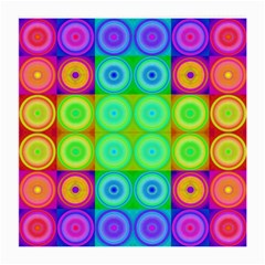 Rainbow Circles Glasses Cloth (Medium, Two Sided)