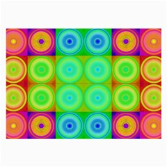 Rainbow Circles Glasses Cloth (large, Two Sided)