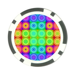Rainbow Circles Poker Chip