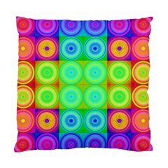 Rainbow Circles Cushion Case (Two Sided)