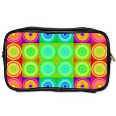 Rainbow Circles Travel Toiletry Bag (two Sides)