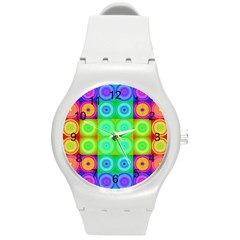 Rainbow Circles Plastic Sport Watch (Medium)