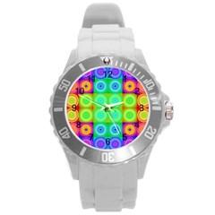 Rainbow Circles Plastic Sport Watch (large)