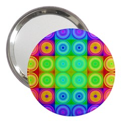 Rainbow Circles 3  Handbag Mirror