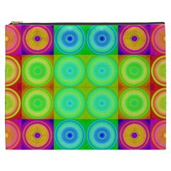 Rainbow Circles Cosmetic Bag (xxxl)