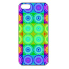 Rainbow Circles Apple Seamless Iphone 5 Case (clear)