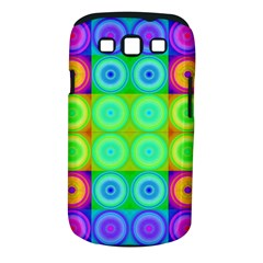 Rainbow Circles Samsung Galaxy S III Classic Hardshell Case (PC+Silicone)