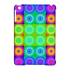 Rainbow Circles Apple Ipad Mini Hardshell Case (compatible With Smart Cover)