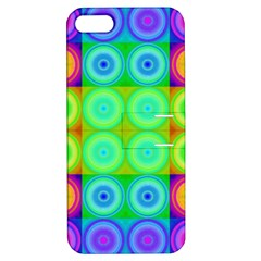 Rainbow Circles Apple Iphone 5 Hardshell Case With Stand