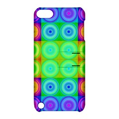 Rainbow Circles Apple Ipod Touch 5 Hardshell Case With Stand