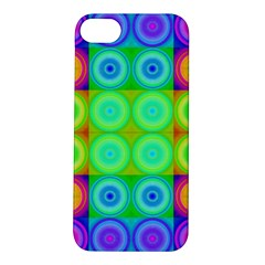 Rainbow Circles Apple iPhone 5S Hardshell Case