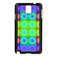 Rainbow Circles Samsung Galaxy Note 3 N9005 Case (black)