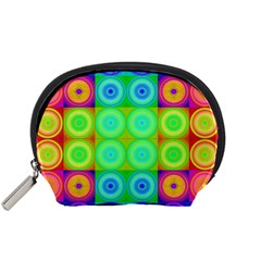 Rainbow Circles Accessory Pouch (Small)