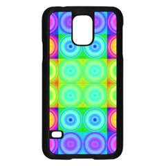 Rainbow Circles Samsung Galaxy S5 Case (Black)