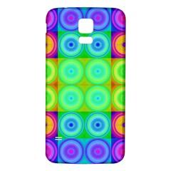Rainbow Circles Samsung Galaxy S5 Back Case (White)