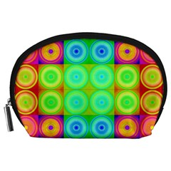 Rainbow Circles Accessory Pouch (Large)