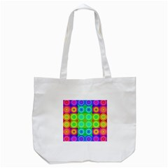 Rainbow Circles Tote Bag (White)