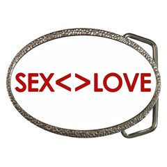 Sex Is Not Love Concept Design Belt Buckle (oval)