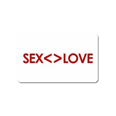 Sex Is Not Love Concept Design Magnet (Name Card)