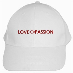 Love is different than Passion Concept Design White Baseball Cap