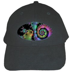Satin Rainbow, Spiral Curves Through the Cosmos Black Baseball Cap