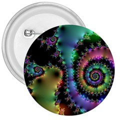 Satin Rainbow, Spiral Curves Through the Cosmos 3  Button