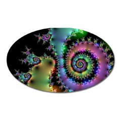 Satin Rainbow, Spiral Curves Through the Cosmos Magnet (Oval)