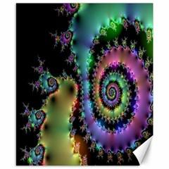 Satin Rainbow, Spiral Curves Through The Cosmos Canvas 8  X 10  (unframed)