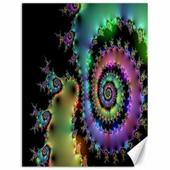 Satin Rainbow, Spiral Curves Through The Cosmos Canvas 18  X 24  (unframed)