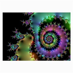 Satin Rainbow, Spiral Curves Through the Cosmos Glasses Cloth (Large, Two Sided)