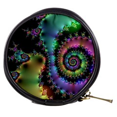 Satin Rainbow, Spiral Curves Through The Cosmos Mini Makeup Case