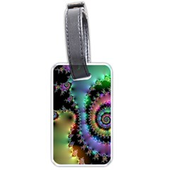 Satin Rainbow, Spiral Curves Through the Cosmos Luggage Tag (Two Sides)