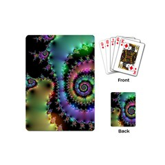 Satin Rainbow, Spiral Curves Through the Cosmos Playing Cards (Mini)