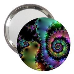 Satin Rainbow, Spiral Curves Through the Cosmos 3  Handbag Mirror