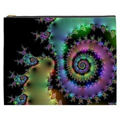 Satin Rainbow, Spiral Curves Through The Cosmos Cosmetic Bag (xxxl)