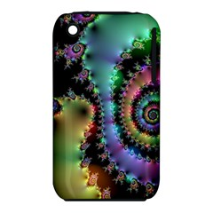 Satin Rainbow, Spiral Curves Through The Cosmos Apple Iphone 3g/3gs Hardshell Case (pc+silicone)