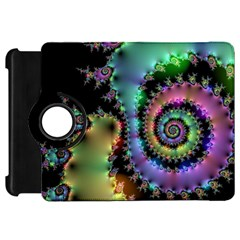 Satin Rainbow, Spiral Curves Through The Cosmos Kindle Fire Hd 7  (1st Gen) Flip 360 Case