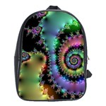 Satin Rainbow, Spiral Curves Through the Cosmos School Bag (XL) Front